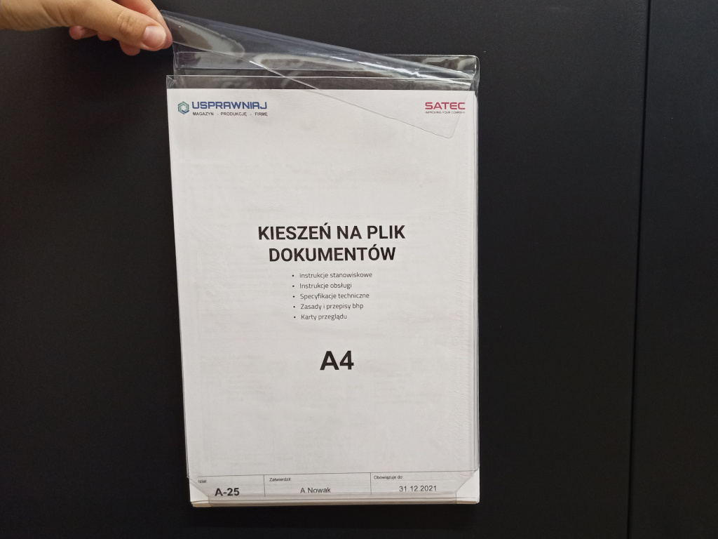 kieszeń magazynowa na plik dokumentów