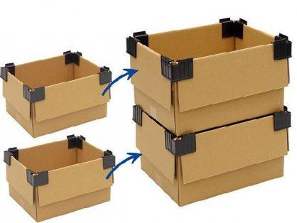 narożniki do sztaplowania kartonów, narożniki do kartonów