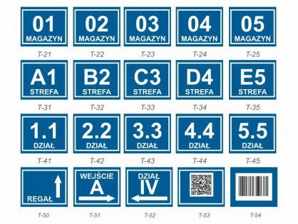 tablice lokalizacyjne informacyjne, tablice z lokacja, tablice do oznakowania magazynu, tablice do oznakowania stref